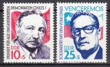 Poštovní známky DDR 1973 Solidarita s Chile Mi# 1890-91