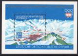 Poštovní známka DDR 1975 ZOH Innsbruck Mi# Block 43