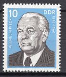 Poštovní známka DDR 1975 Prezident Wilhelm Pieck Mi# 2106