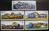 Poštovní známky DDR 1977 Moderní technika v zemědělství Mi# 2236-40