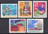 Poštovní známky DDR 1977 Hasiči Mi# 2276-80