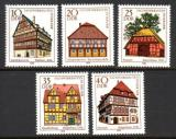 Poštovní známky DDR 1978 Tradiční architektura Mi# 2294-98