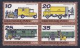 Poštovní známky DDR 1978 Přeprava pošty Mi# 2299-2302