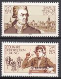Poštovní známky DDR 1978 Samuel Heinicke Mi# 2314-15