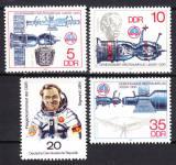 Poštovní známky DDR 1978 Průzkum vesmíru Mi# 2359-62