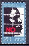 Poštovní známka DDR 1978 Boj proti rasismu Mi# 2369