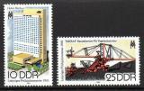 Poštovní známky DDR 1981 Lipský veletrh Mi# 2593-94