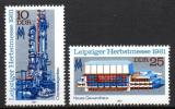 Poštovní známky DDR 1981 Lipský veletrh Mi# 2634-35