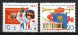 Poštovní známky DDR 1982 Setkání pionýrů v Drážďanech Mi# 2724-25