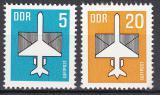 Poštovní známky DDR 1983 Letecká pošta Mi# 2831-32