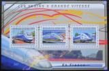 Poštovní známky Guinea 2011 Francouzské moderní lokomotivy Mi# 9019-21 Kat 16€
