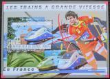 Poštovní známka Guinea 2011 Francouzské moderní lokomotivy Mi# Block 2044 Kat 16€