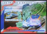 Poštovní známka Guinea 2011 Anglické moderní lokomotivy Mi# Block 2045 Kat 16€