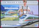Poštovní známka Guinea 2011 Německé moderní lokomotivy Mi# Block 2047 Kat 18€