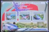 Poštovní známky Guinea 2011 Čínské moderní lokomotivy Mi# 9031-33 Kat 16€