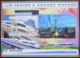 Poštovní známka Guinea 2011 Čínské moderní lokomotivy Mi# Block 2048 Kat 18€
