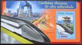 Poštovní známka Svatý Tomáš 2016 Čínské moderní lokomotivy Mi# Block 1227 Kat 10€