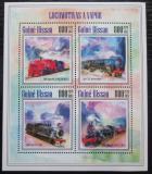 Poštovní známky Guinea-Bissau 2013 Parní lokomotivy Mi# 6971-74 Kat 13€