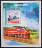 Poštovní známka Guinea-Bissau 2013 Parní lokomotivy Mi# Block 1221 Kat 9€