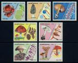 Poštovní známky Guinea-Bissau 1988 Houby TOP SET Mi# 989-95 Kat 30€