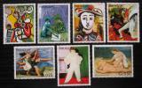 Poštovní známky Paraguay 1981 Umění, Pablo Picasso Mi# 3436-42 Kat 6.50€