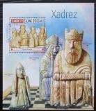 Poštovní známka Guinea-Bissau 2015 Šachové figurky Mi# Block 1405 Kat 9€