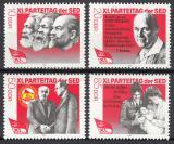 Poštovní známky DDR 1986 Sjezd SED Mi# 3009-12