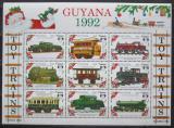 Poštovní známky Guyana 1992 Modely lokomotiv a vagónů Mi# 3898-3906
