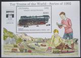 Poštovní známka Guyana 1992 Modely lokomotiv a vagónů Mi# Block 211 Kat 9.50€