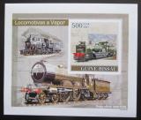 Poštovní známka Guinea-Bissau 2007 Parní lokomotivy DELUXE Mi# 3624 B Block