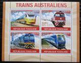 Poštovní známky Togo 2010 Australské lokomotivy Mi# 3776-79 Kat 12€