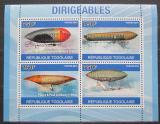 Poštovní známky Togo 2010 Vzducholodě Mi# 3719-22 Kat 12€