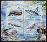 Poštovní známky Burundi 2012 Vorvaň obrovský Mi# 2605-08 Kat 9.50€