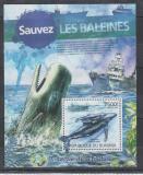 Poštovní známka Burundi 2012 Vorvaň obrovský Mi# Block 245 Kat 9€