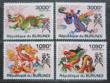 Poštovní známky Burundi 2011 Čínský nový rok, rok draka Mi# 2238-41 Kat 9.50€