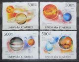 Poštovní známky Komory 2009 Sluneční soustava Mi# 2626-29 Kat 9€