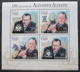 Poštovní známka Togo 2012 Alexandr Aljechin, šachy Mi# 4528-31 Kat 12€