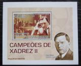 Poštovní známka Guinea-Bissau 2008 Alexander Aljechin,šachy DELUXE Mi# 3706 Block