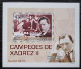 Poštovní známka Guinea-Bissau 2008 Max Euwe, šachy DELUXE Mi# 3707 Block