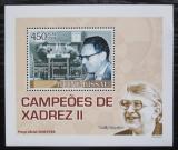 Poštovní známka Guinea-Bissau 2008 Michail Botvinnik, šachy DELUXE Mi# 3708 Block