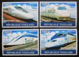 Poštovní známky Togo 2010 Moderní asijské lokomotivy Mi# 3772-75 Kat 12€
