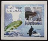 Poštovní známka Svatý Tomáš 2010 Velryby DELUXE Mi# 4469 Block