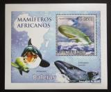 Poštovní známka Svatý Tomáš 2010 Velryby DELUXE Mi# 4470 Block