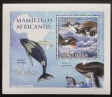 Poštovní známka Svatý Tomáš 2010 Velryby DELUXE Mi# 4473 Block