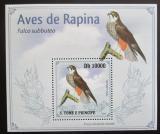 Poštovní známka Svatý Tomáš 2009 Ostříž lesní DELUXE Mi# 4266 Block