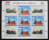 Poštovní známky Paraguay 1985 Německé lokomotivy Mi# 3904 Bogen Kat 30€