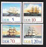 Poštovní známky DDR 1988 Plachetnice Mi# 3198-3201