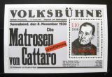 Poštovní známka DDR 1988 Friedrich Wolf, spisovatel a lékař Mi# Block 96