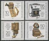 Poštovní známky DDR 1989 Staré telefony Mi# 3226-29