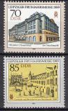 Poštovní známky DDR 1989 Lipský veletrh Mi# 3235-36